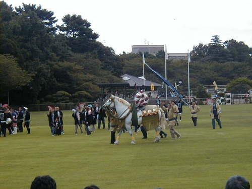 飾り馬 【熊本学園大学付属高等学校同窓会紫紺会】